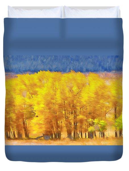 Field Of Gold Duvet Cover