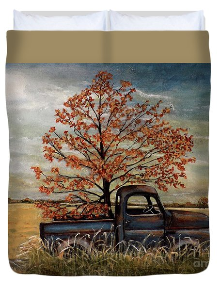 Field Ornaments Duvet Cover by Judy Kirouac