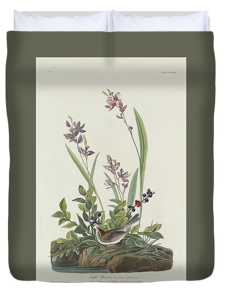 Field Sparrow Duvet Cover by Rob Dreyer