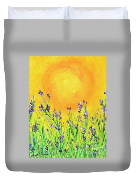 Field Sunset Duvet Cover