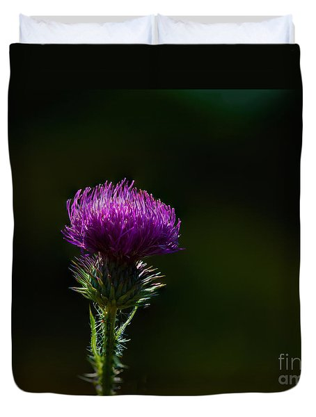 Field Thistle Duvet Cover