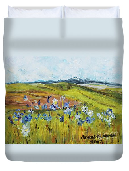 Field With Flowers Duvet Cover