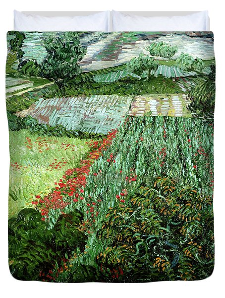 Field With Poppies Duvet Cover by Vincent Van Gogh