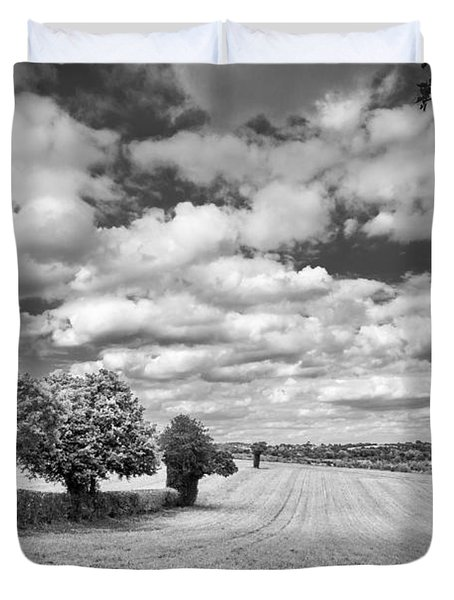 Fields And Clouds Duvet Cover