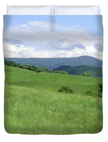 Fields And Hills  Duvet Cover
