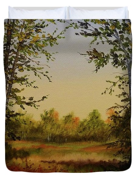 Fields And Trees Duvet Cover