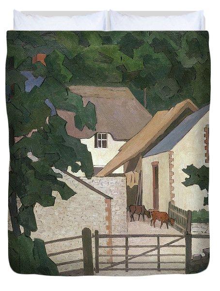Field's Farm, Somerset Duvet Cover