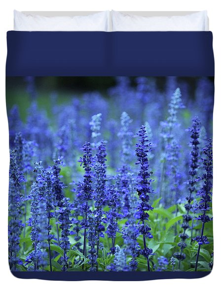 Fields Of Blue Duvet Cover