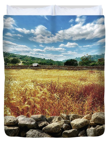 Fields Of Gold Duvet Cover by Stephan Grixti