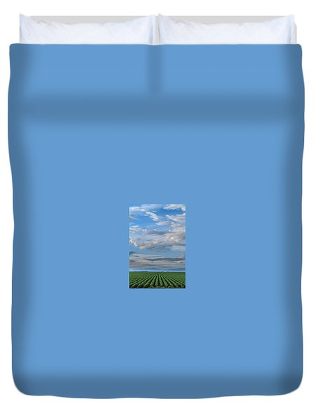 Fields Of Green Duvet Cover