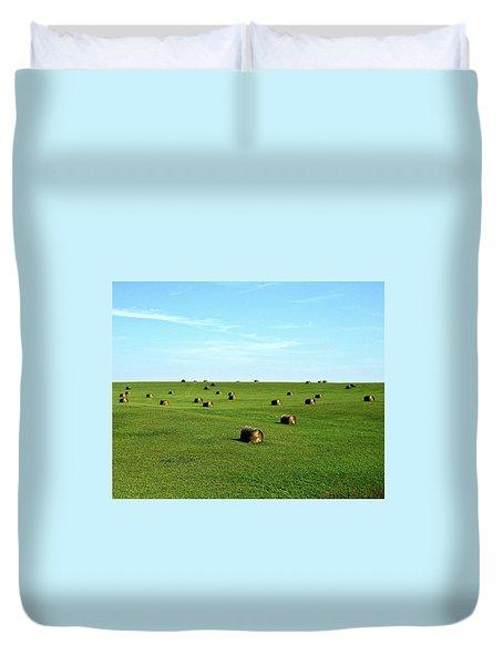 Fields Of Green Duvet Cover by Mark Mickelsen