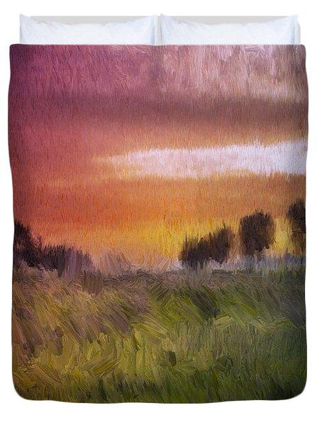 Fields Of Green Duvet Cover