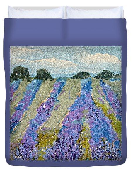 Fields Of Lavender Duvet Cover