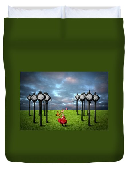 Fields Of Time Duvet Cover by Nathan Wright