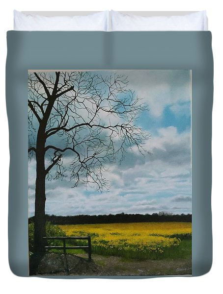 Fields Of Yellow Duvet Cover