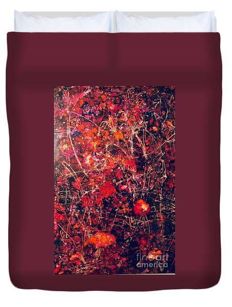 Fiery Crash Duvet Cover