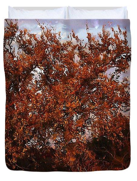 Fiery Elm Tree  Duvet Cover