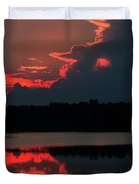 Fiery Evening Duvet Cover