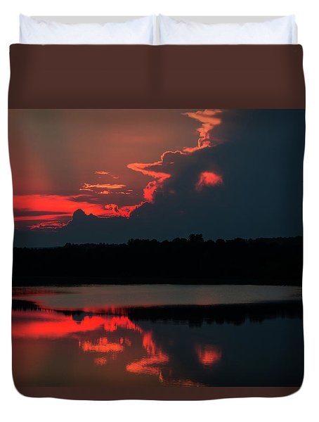 Fiery Evening Duvet Cover