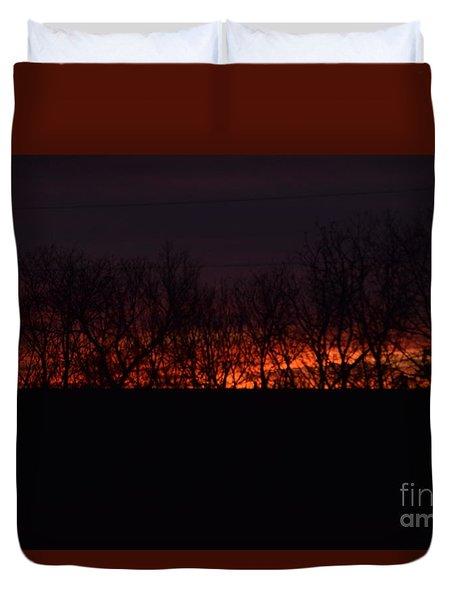 Fiery Kansas Sky Duvet Cover