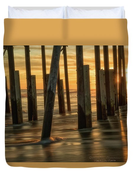 Duvet Cover featuring the photograph Fiery Kiss by Russell Pugh