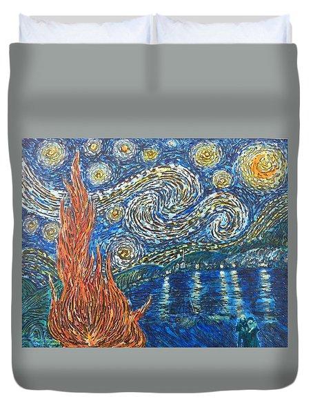 Fiery Night Duvet Cover