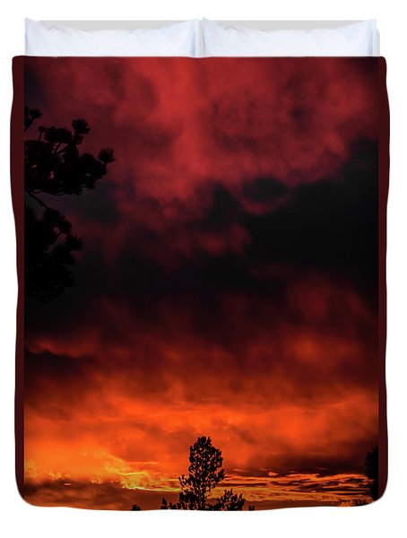 Fiery Sky Duvet Cover