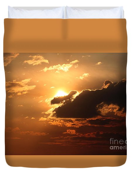 Fiery Sun Duvet Cover by Erica Hanel