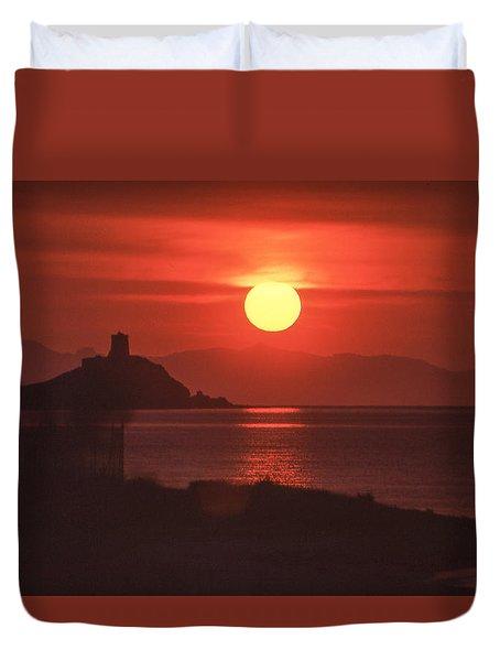 Fiery Sun Rise Duvet Cover