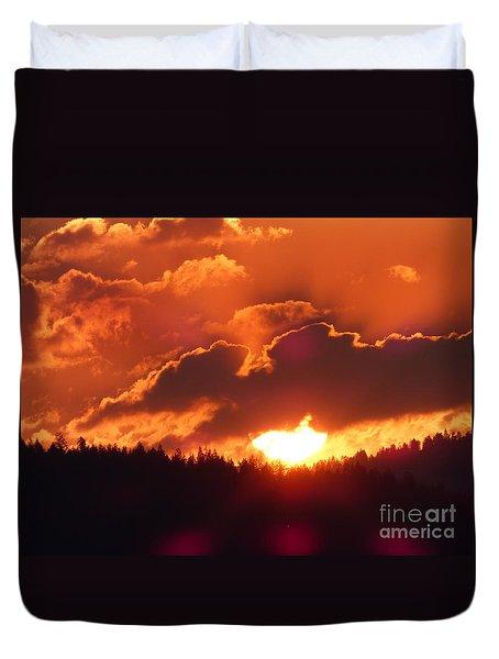 Fiery Sunset 1 Duvet Cover