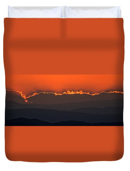 Fiery Sunset In The Luberon Duvet Cover