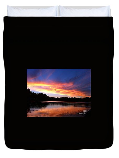 Fiery Sunset Duvet Cover