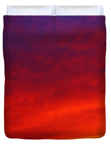 Fiery Vortex Duvet Cover