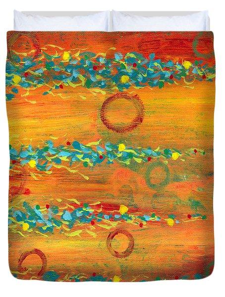 Fiesta Painting Duvet Cover