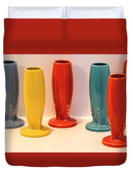 Fiestaware Bud Vases Duvet Cover