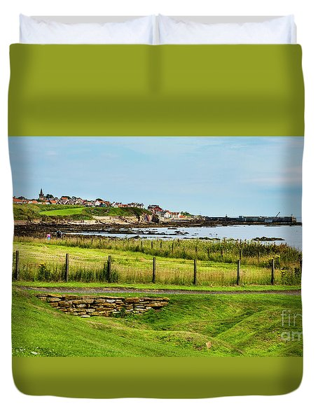 Duvet Cover featuring the photograph Fife Coastal Pathway Leading To Pittenweem by MaryJane Armstrong