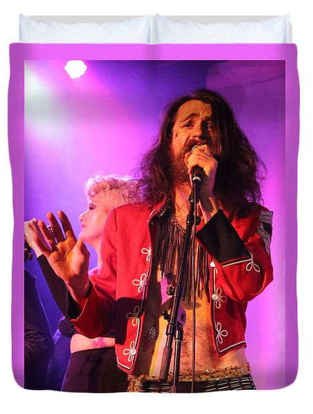 Duvet Cover featuring the photograph Fifth Annual David Bowie Birthday Bash by John King