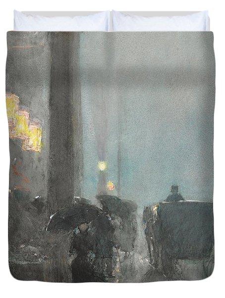 Fifth Avenue, Evening Duvet Cover