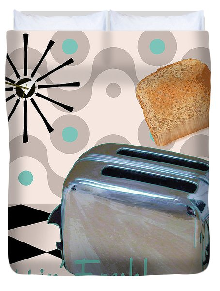 Fifties Kitchen Toaster Duvet Cover