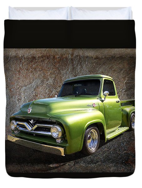 Fifties Pickup Duvet Cover