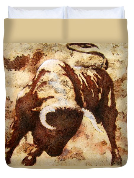 Fight Bull Duvet Cover