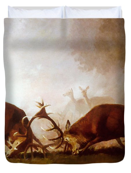 Fighting Stags II. Duvet Cover