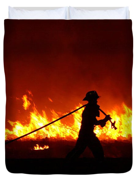 Fighting The Fire Duvet Cover