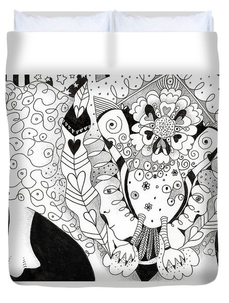 Figments Of Imagination - The Beast Duvet Cover