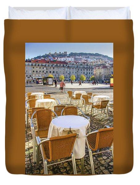 Figueira Square Lisbon Duvet Cover