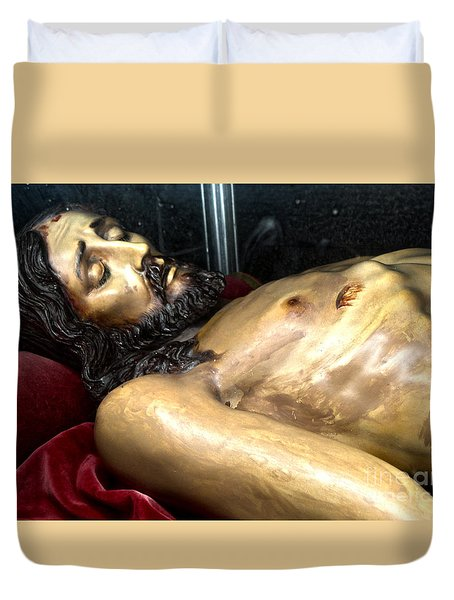 Duvet Cover featuring the photograph Figueres Spain Church Of St.peter by Gregory Dyer