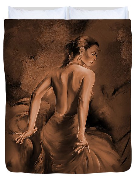 Duvet Cover featuring the painting Figurative Art 007dc by Gull G
