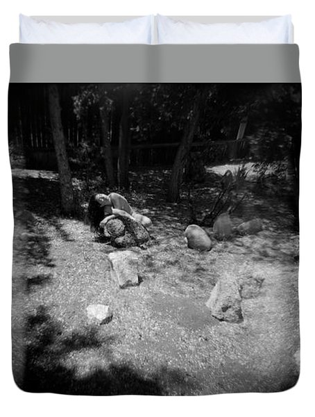 Figurative Holga Tryptich 4 Duvet Cover