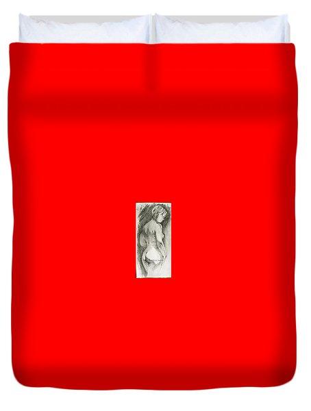 Figure Drawing.2. Duvet Cover by SJV Jeffery-Swailes