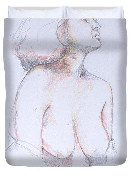 Figure Study Profile 1 Duvet Cover